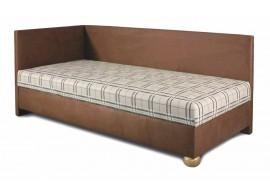 Čalouněná postel s čely a úložným prostorem Grey