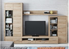 Moderní obývací stěna CASA-7108, dub san remo, 310x204