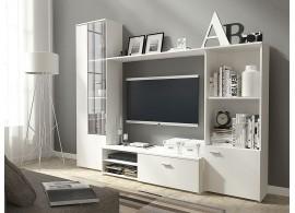 Moderní obývací stěna CASA-5113, bílá mat, 220x179