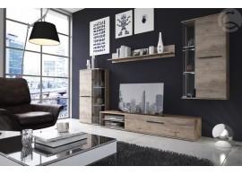 Moderní obývací stěna CASA-5023, dub šedý, 240x220