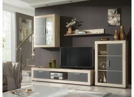 Moderní obývací stěna Ford,dub sonoma-šedá, 290x185