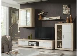 Moderní obývací stěna Ford,dub sonoma-bílá, 290x185
