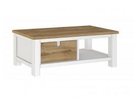 Konferenční stolek Guano,bílá-dub wotan, 120x65