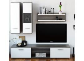 Moderní obývací stěna WAW NEW,dub trufel-bílá, 188x185