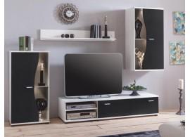 Moderní obývací stěna Rupor, bílá-černá, 225x175