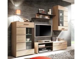 Moderní obývací stěna Presli, dub sonoma, 245x184