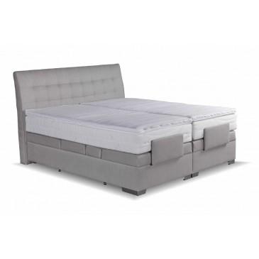Americká postel boxspring ASTRID, 180x200, motorový rošt, šedá