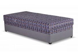 Čalouněná postel s úložným prostorem EVELÍNA, 90x200, šedá-modrá