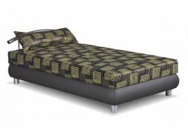 Čalouněná postel s úložným prostorem Nina, šedá-zelená