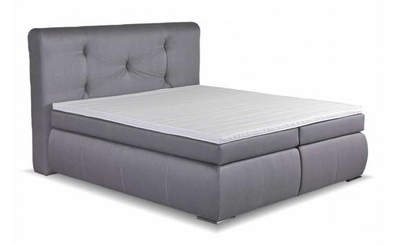 Americká postel boxspring s uložným prostorem SIERRA, 180x200, šedá