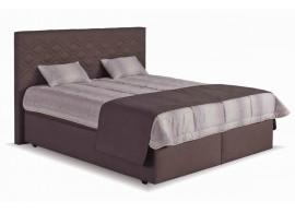 Čalouněná postel s úložným prostorem Neapol, 180x200, hněda-béžová