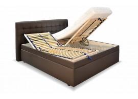 Čalouněná postel s úložným prostorem Monaco, 180x200, hnědá