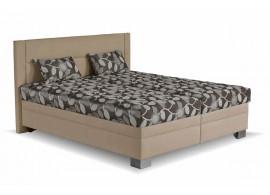 Čalouněná postel s úložným prostorem Savona, 180x200, hnědá