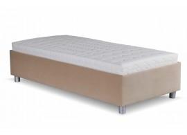 Čalouněná postel s úložným prostorem NEPTUN, 90x200, béžová