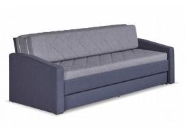Rozkládací pohovka Vision, 90x200, šedá-modrá
