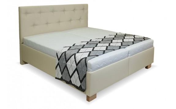 Zýšená čalouněná postel s úložným prostorem Veronika