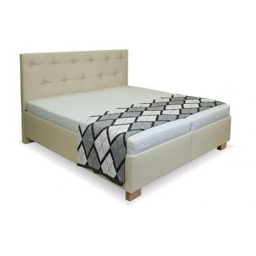 Zvýšená čalouněná postel s úložným prostorem Veronika