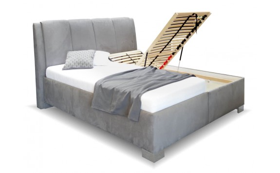 Vysoká čalouněná postel s úložným prostorem GUVERNÉR