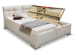 Čalouněná postel s úložným prostorem LUSSO
