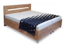Zýšená postel s roštem a matrací Sandra