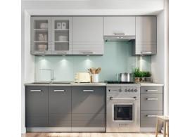 Kuchyňská linka CASA-7071, šedá-mocca, 240 cm