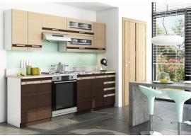 Kuchyňská linka CASA-4205, dub wenge, 240 cm