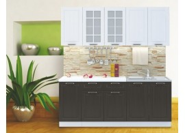 Kuchyňská linka CASA-6058, bílá-wenge, 200 cm