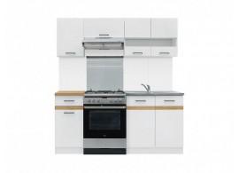 Kuchyňská linka JUNONA, bílá lesk, 180cm
