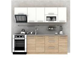 Kuchyňská linka Nova Plus, dub sonoma-bílá, 240 cm