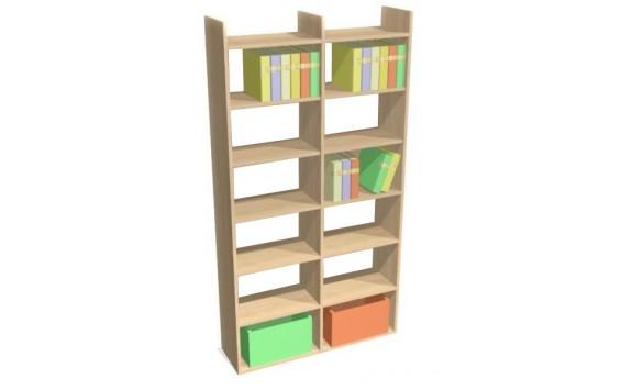 Knihovna - regál široký D75-DONALD