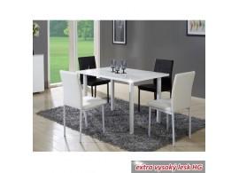 Jídelní stůl UNITA, kov/MDF, 120x80 cm, bílá lesk