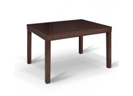 Rozkládací jídelní stůl Faro, masiv/MDF, 120x90 cm, wenge
