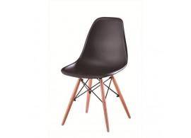 Jídelní židle CINKLA, masiv/plast, černá