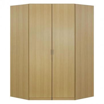 Rohová šatní skříň dvoudveřová IA11550, buk