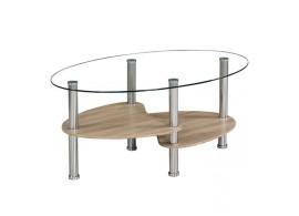 Stylový konferenční stolek Panty, 90x55, sklo/lamino