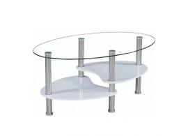 Stylový konferenční stolek Axel, 90x55, sklo