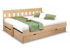 Rozkládací postel ARLETA TWIN - lavice, masiv buk, 90-160x200cm