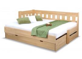 Rozkládací postel ARLETA TWIN - LEVÁ, masiv buk, 90-160x200cm