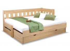 Rozkládací postel ARLETA TWIN - PRAVÁ, masiv buk, 90-160x200cm