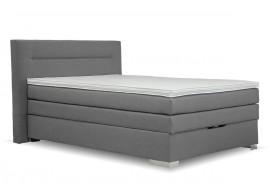 Americká postel boxspring s úložným prostorem DORIA, 140x200 cm, šedá