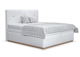 Čalouněná postel s úložným prostorem Dalia, 180x200, bílá