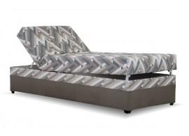 Čalouněná postel s úložným prostorem EVELÍNA, 90x200, hnědá