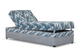 Čalouněná postel s úložným prostorem EVELÍNA, 90x200, modrá