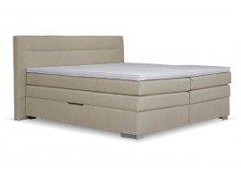 Americká postel boxspring s úložným prostorem DORIA, 160x200 cm, béžová