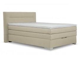 Americká postel boxspring s úložným prostorem DORIA, 140x200 cm, béžová