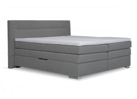 Americká postel boxspring s úložným prostorem DORIA, 160x200 cm, šedá