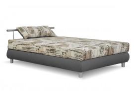 Čalouněná postel s úložným prostorem Adriana, 110x200, hnědá