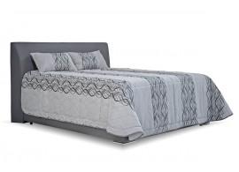 Čalouněná postel s úložným prostorem Hellen, 160x200, šedá