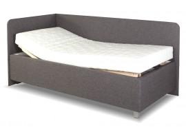 Zvýšená čalouněná postel s úložným prostorem Aleš