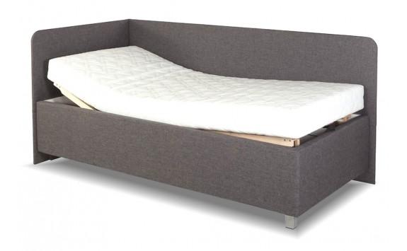 fef7dd09fd10 Zvýšená čalouněná postel s úložným prostorem Aleš - Nábytek INTENA